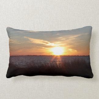 Chincoteague sunset pillow (cotton).