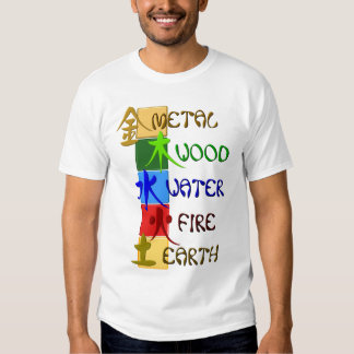 Chinese 5 elements tshirt