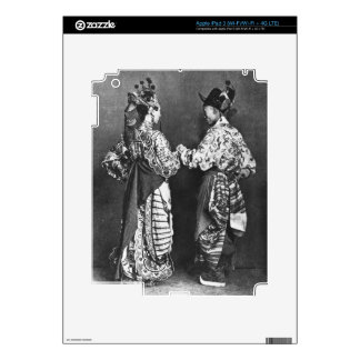 Chinese actors from behind, c.1870 (b/w photo) decals for iPad 3