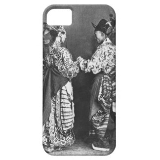 Chinese actors from behind, c.1870 (b/w photo) iPhone SE/5/5s case