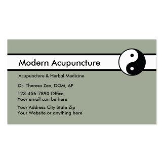 acupuncture business cards templates zazzle. Black Bedroom Furniture Sets. Home Design Ideas