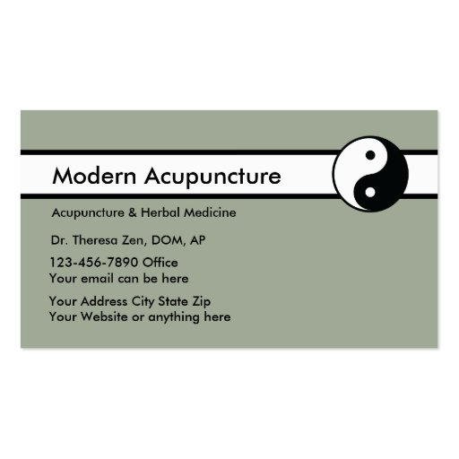 Chinese acupuncture business card zazzle for Chinese business cards