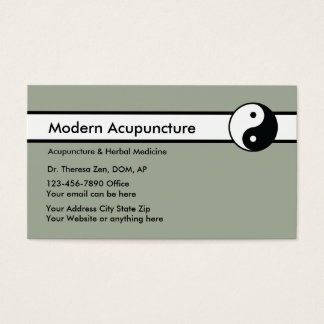 Chinese Acupuncture Business Card