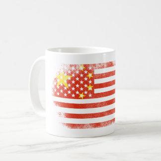 Chinese American Flag   China and USA Design Coffee Mug