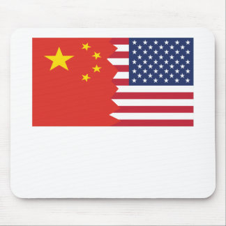 Chinese American Flag Mouse Pad