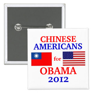 Chinese Americans for Obama Pinback Button