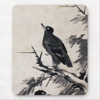 Chinese ancient black and white ink painting mouse pads