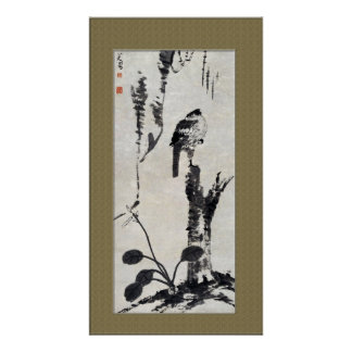 Chinese Ancient Painting,  Nature,Bird, Poster