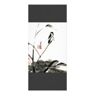 Chinese ancient watercolor painting big bookmark rack card