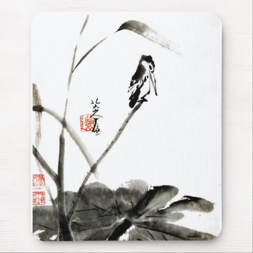 Chinese ancient watercolor paintings mouse pad