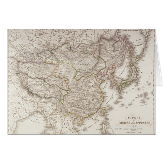Chinese and Japanese Empires Card