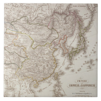Chinese and Japanese Empires Ceramic Tile