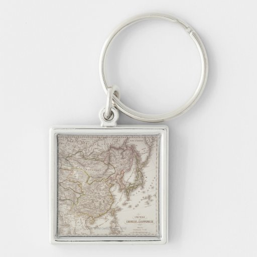 Chinese and Japanese Empires Key Chain
