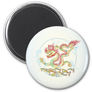 Chinese and Vietnamese year of the dragon 2 Inch Round Magnet