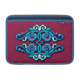 Chinese arabesque ornament blue MacBook air sleeve