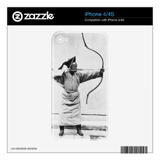Chinese archer, c.1870 (b/w photo) iPhone 4S decal