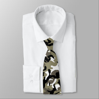 Chinese Army Winter Woodland Camo Tie