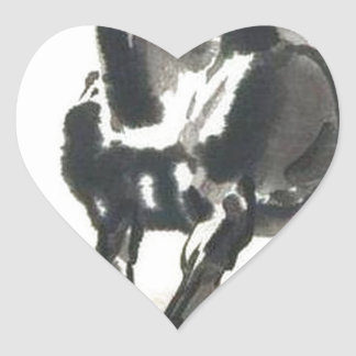 Chinese Art - Horses Heart Sticker