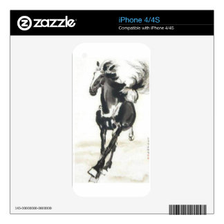 Chinese Art - Horses Skin For iPhone 4
