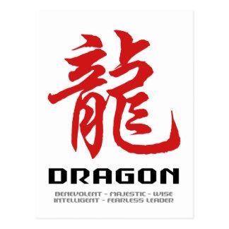 Chinese Astrology Dragon Postcard