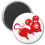 Chinese Astrology Rat Illustration 2 Inch Round Magnet