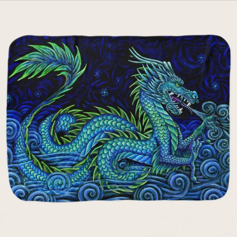 Chinese Azure Dragon Baby Blanket