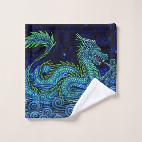 Chinese Azure Dragon bath towel set