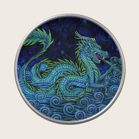 Chinese Azure Dragon Candy Tin