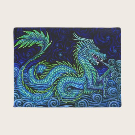 Chinese Azure Dragon Door Mat