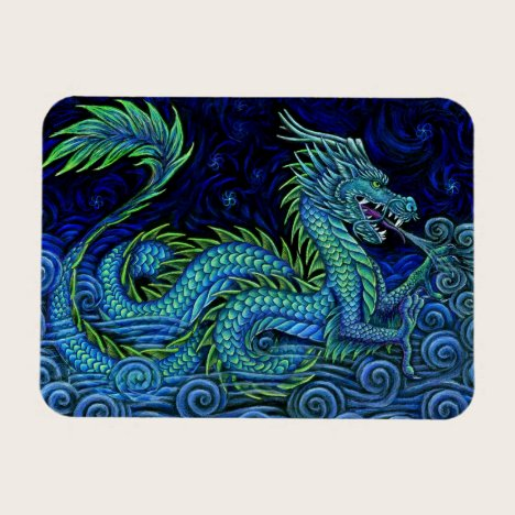 Chinese Azure Dragon Flexible Photo Magnet