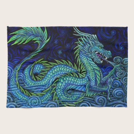 Chinese Azure Dragon Kitchen Towels