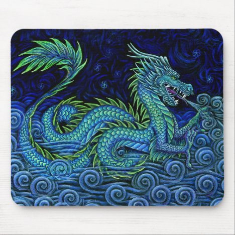Chinese Azure Dragon Mouse pad