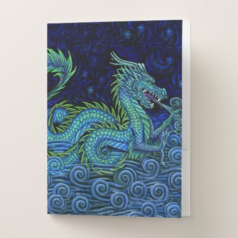 Chinese Azure Dragon Pocket Folders