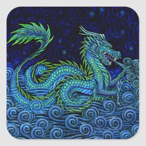 Chinese Azure Dragon Stickers