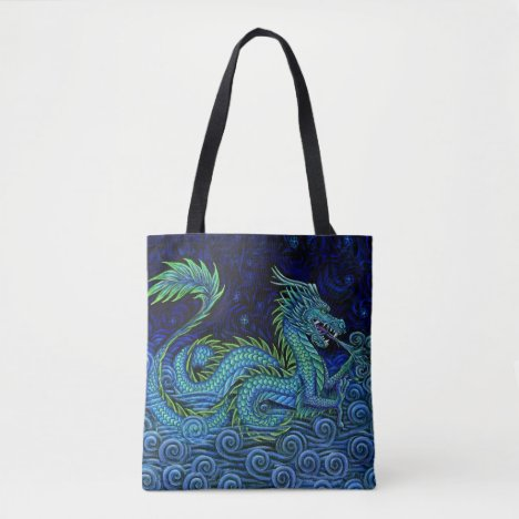 Chinese Azure Dragon Tote Bag