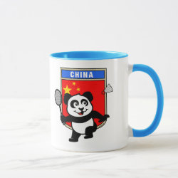 Combo Mug with Chinese Badminton Panda design