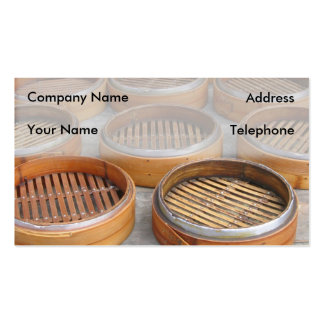 Chinese Bamboo Steamers Double-Sided Standard Business Cards (Pack Of 100)
