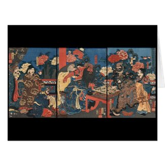 Chinese Baron Kan-u 1853 Large Greeting Card
