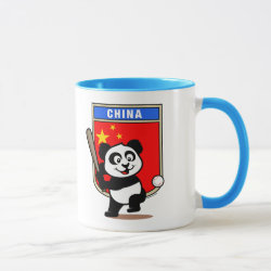Combo Mug with China Baseball Panda design