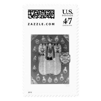 Chinese Baseball Team Tour 1913 Stamp
