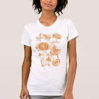 Chinese Batik ORANGE Tee Shirt