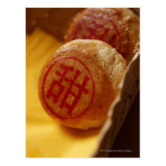 Chinese bean paste pastry with Chinese character Post Card