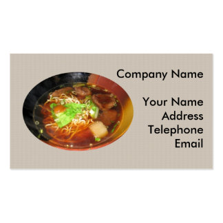 Chinese Beef Noodle Dish Business Card