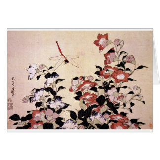 Chinese Bell Flower and Dragonfly Card