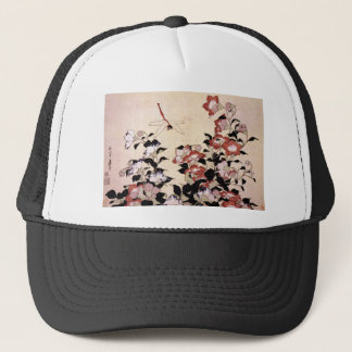 Chinese Bell Flower and Dragonfly Trucker Hat