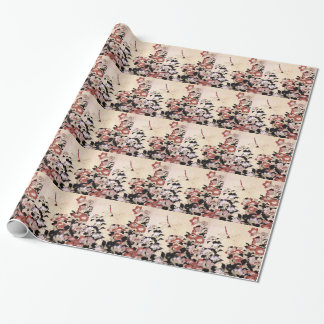 Chinese Bell Flower and Dragonfly Wrapping Paper