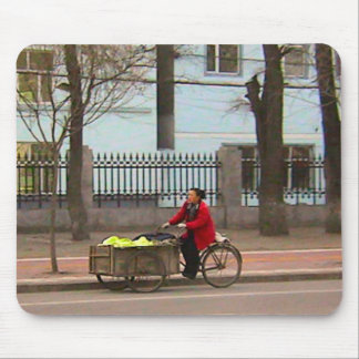 Chinese bicycles - Cabbages for Kimchi Mouse Pads