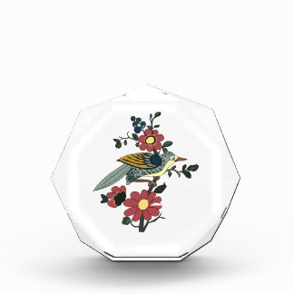 Chinese bird and Flower Acrylic Award