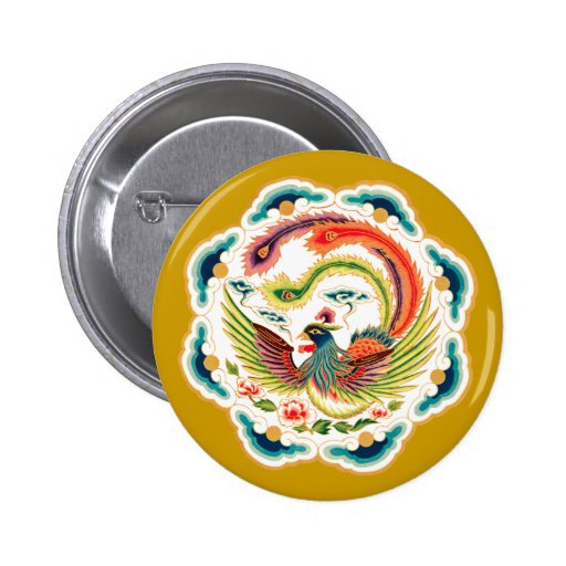 Chinese bird Chinese bird Pinback Button