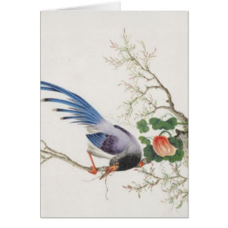 Chinese Bird Painting Card